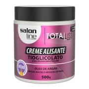 CREME ALISANTE ÓLEO DE ARGAN MÉDIO SALON LINE 500GR