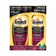Kit Niely Gold Shampoo (275ml) + Condicionador (175ml) óleo de rícino + D-Pantenol