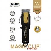 WAHL MÁQUINA DE CORTE (SEM FIO) MAGIC CLIP CORDLESS BLACK & GOLD BIVOLT