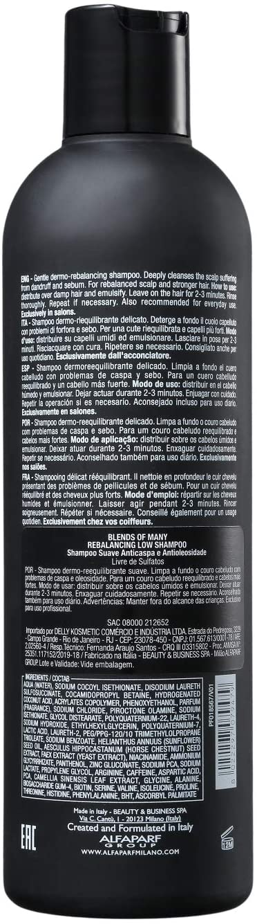 ALFAPARF SHAMPOO BLENDS OF MANY REBALANCING LOW 250ML
