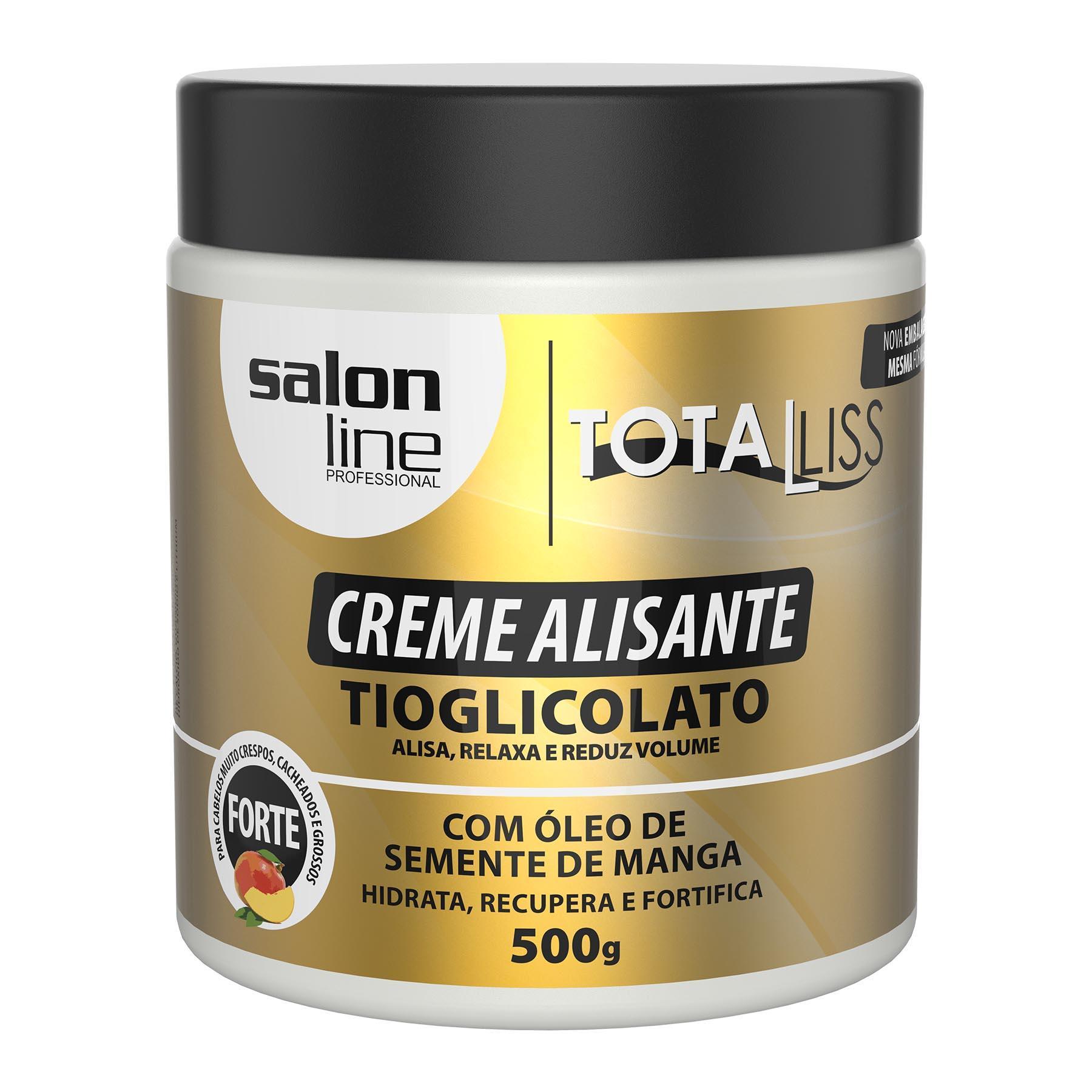 CREME ALISANTE ÓLEO SEMENTE DE MANGA SALON LINE 500GR