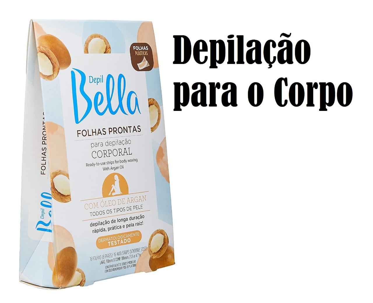 DEPIL BELLA FOLHA PRONTA PARA DEPILAÇÃO ARGAN 16 FOLHAS (FACIAL/CORPORAL)