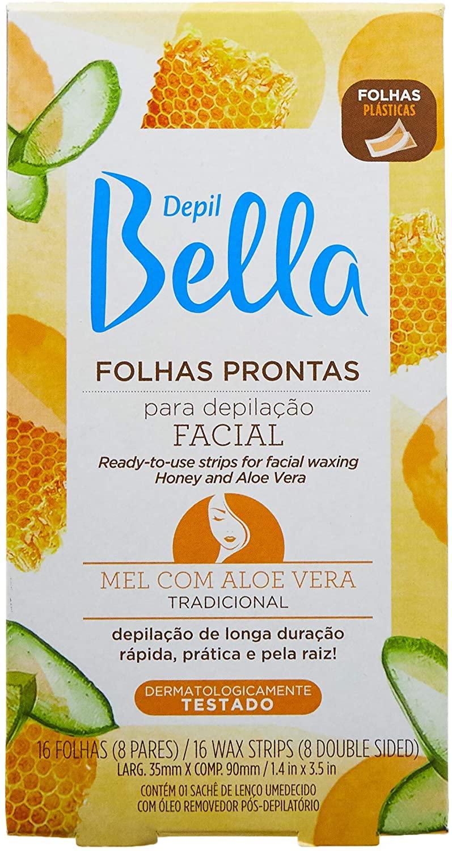 DEPIL BELLA FOLHA PRONTA PARA DEPILAÇÃO MEL COM ALOE 16 FOLHAS