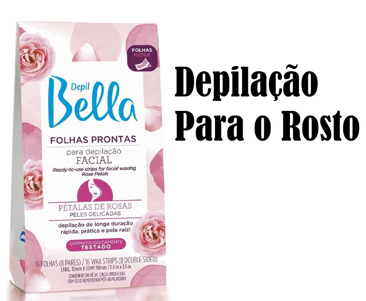 DEPIL BELLA FOLHA PRONTA PARA DEPILAÇÃO PÉTALAS DE ROSAS 16 FOLHAS (FACIAL/CORPORAL)
