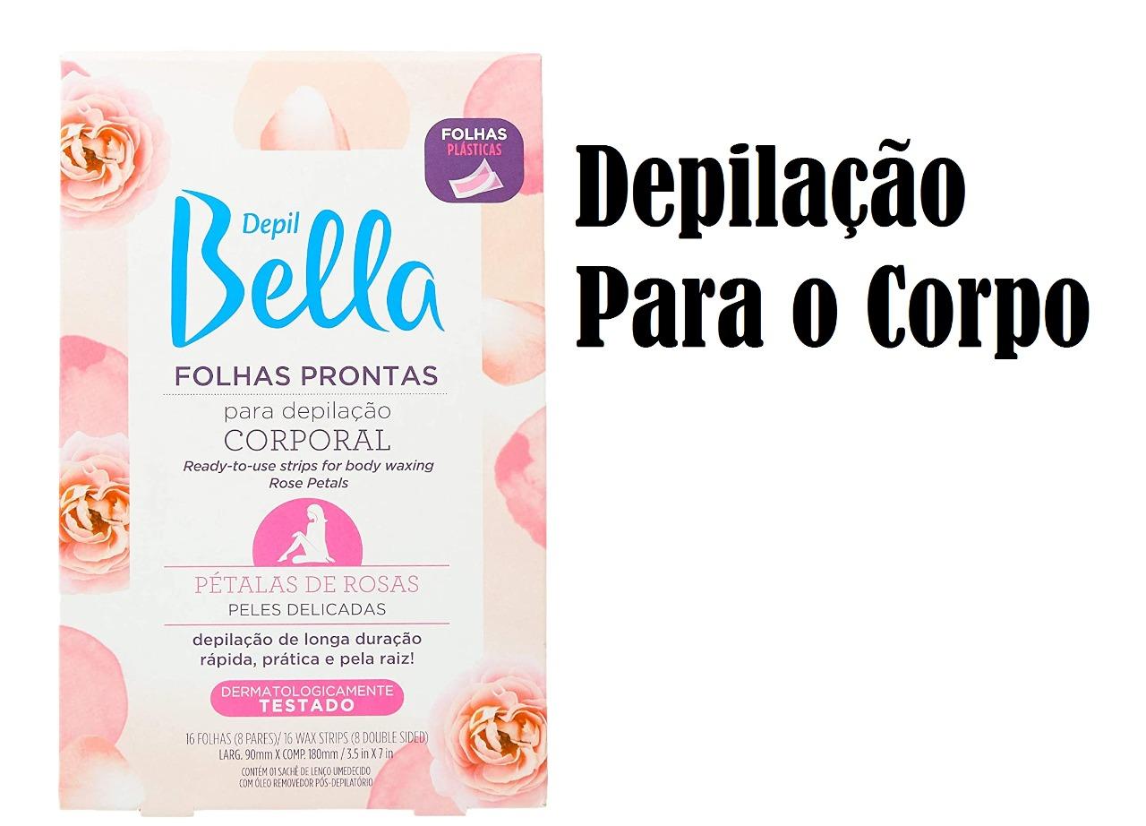 Depil Bella Folhas Prontas Para Depilação Pétalas de Rosas Folhas (facial/corporal)