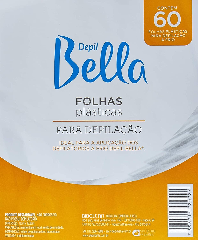 DEPIL BELLA FOLHAS PARA DEPILAÇÃO 60 FOLHAS