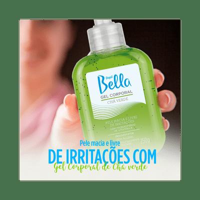 DEPIL BELLA GEL CORPORAL CHÁ VERDE 250g