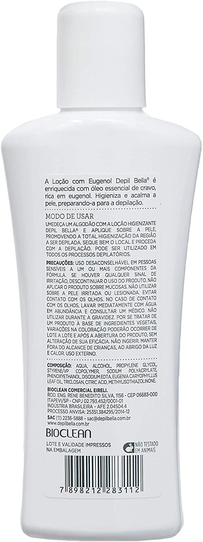 DEPIL BELLA LOÇÃO HIGIENIZANTE COM EUGENOL PRÉ-DEPILAÇÃO 140ml