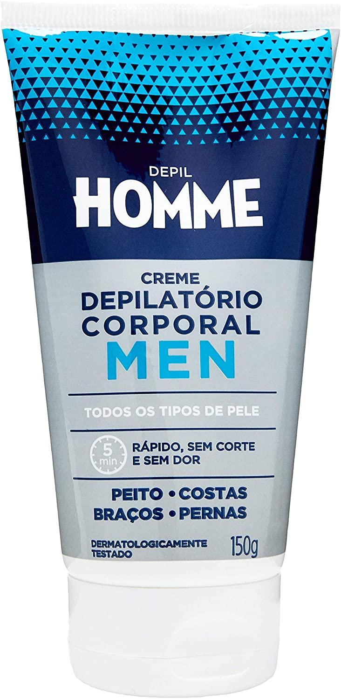 DEPIL HOMME CREME DEPILATÓRIO CORPORAL MASCULINO 150g