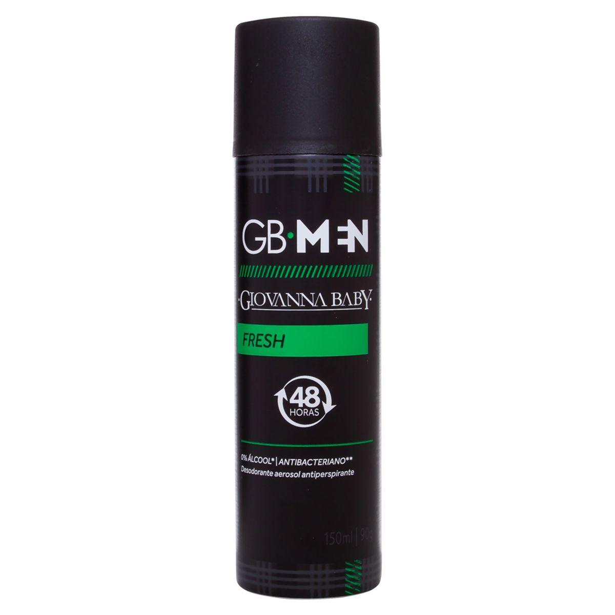 Desodorante Aerosol Giovanna Baby GB Men Fresh - 150ml