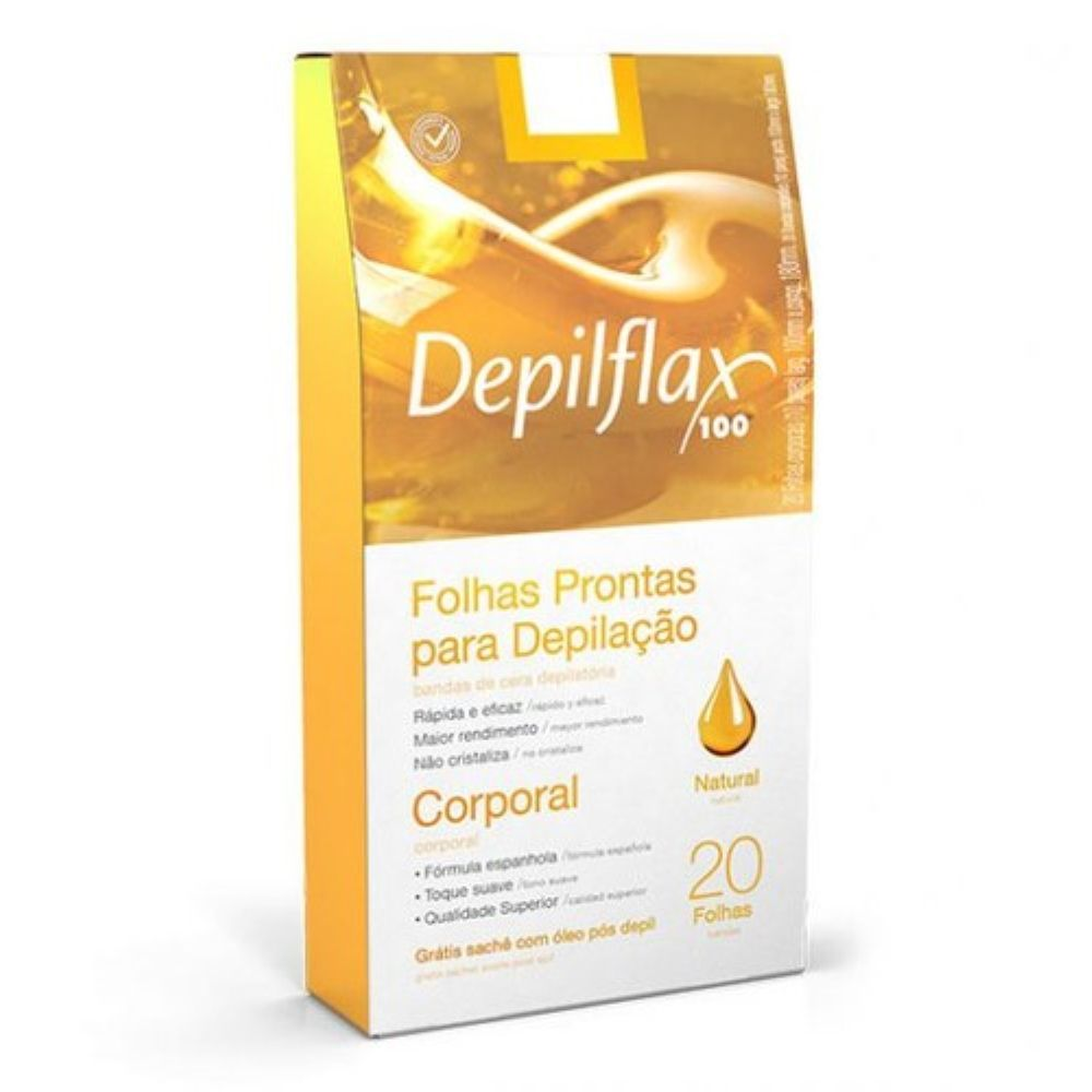 Folhas Prontas Corporal Depilflax com 20 und