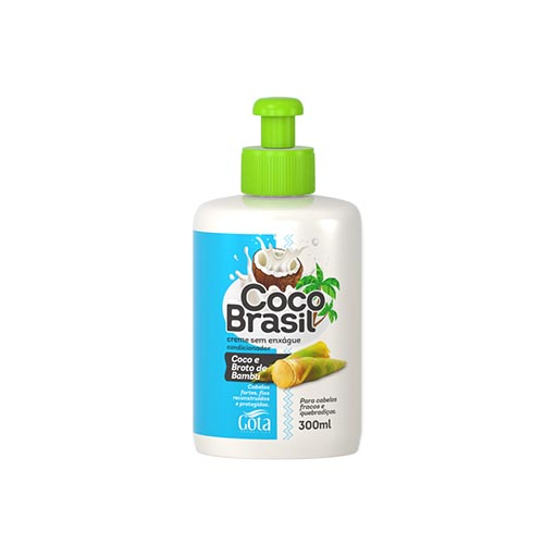 GOTA DOURADA CREME DE PENTEAR COCO BRASIL COCO BAMBU 300ML