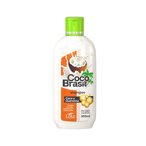 Gota Dourada Shampoo Coco Brasil Coco e Queratina - 300ml