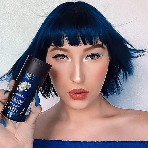 Kamaleão Color Máscara Pigmentante Azulão Azul Escuro 150ml