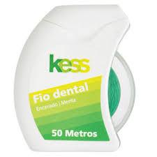 KESS FIO DENTAL ENCERADO MENTA 50 METROS