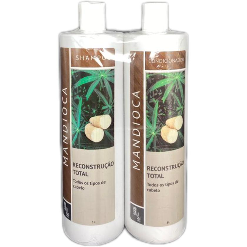 KIT Verbalize Shampoo + Condicionador Mandioca Reconstrução Total - 2x1000ml
