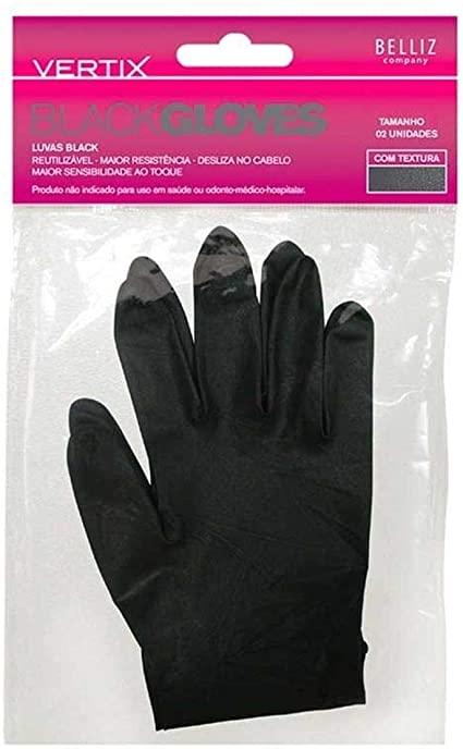 LUVAS BLACK VERTIX COM 2 PARES