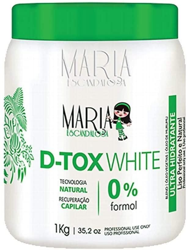 MARIA ESCANDALOSA BOTOX WHITE SEM FORMOL 250G OU 1KG