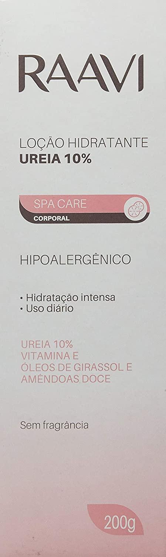 RAAVI LOÇÃO HIDRATANTE UREIA 10%, 200g