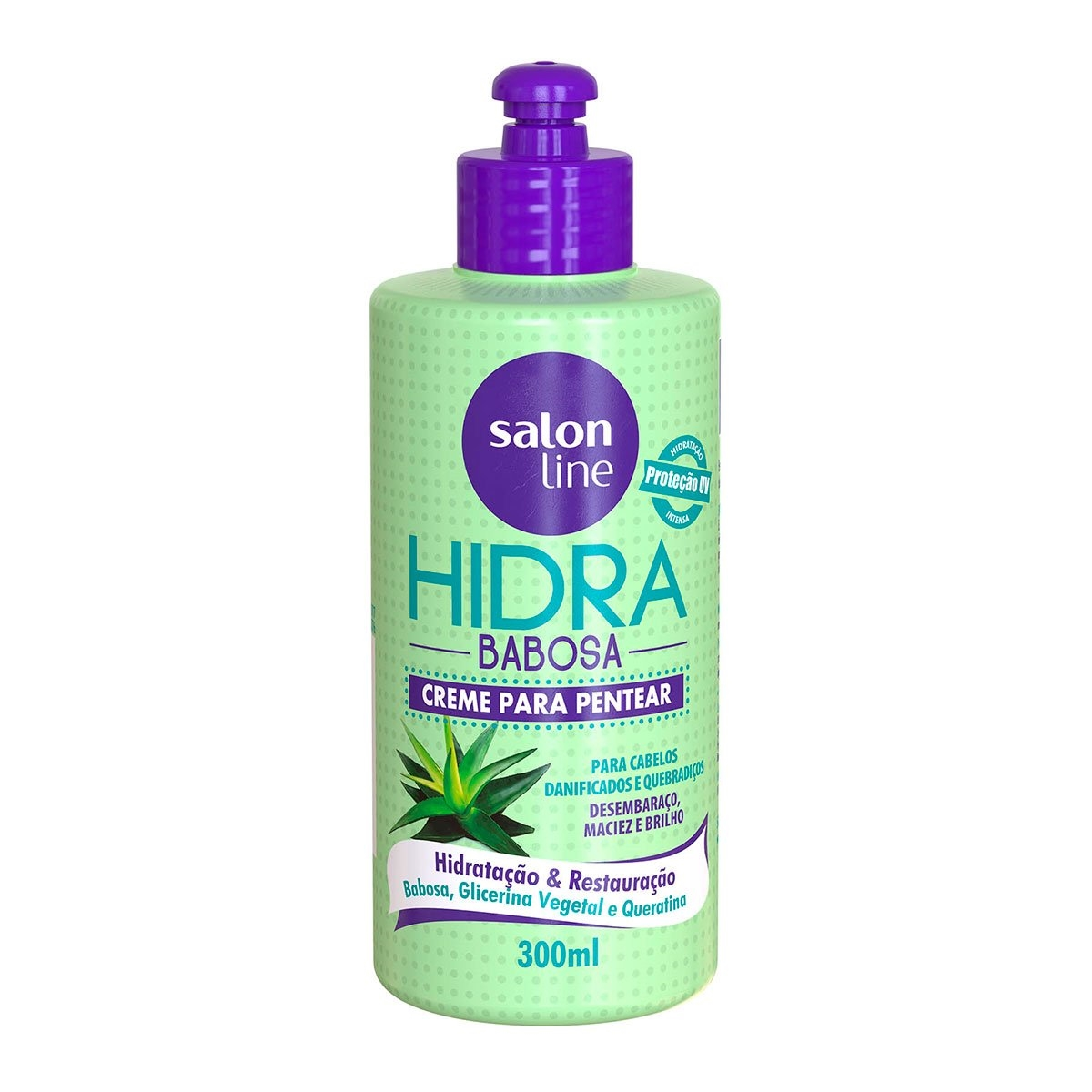 SALON LINE HIDRA BABOSA CREME PARA PENTEAR - 300 ml