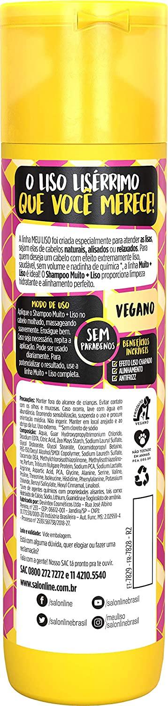 SALON LINE SHAMPOO MEU LISO AMIDO DE MILHO - 300 ml
