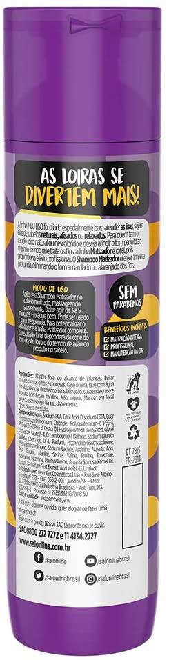 SALON LINE SHAMPOO MEU LISO MATIZADOR - 300 ml