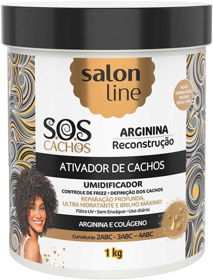 SALON LINE SOS CACHOS ARGININA ATIVADOR DE CACHOS - 1 kg