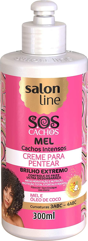 SALON LINE SOS CACHOS CREME PARA PENTEAR MEL - 300 ml