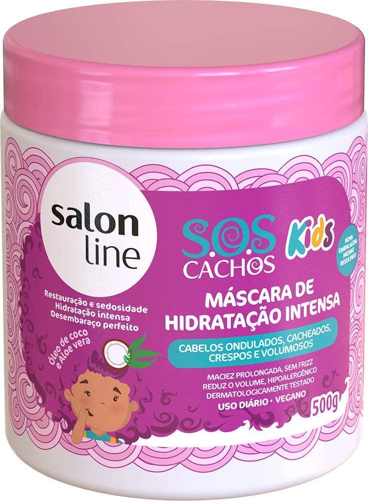 SALON LINE SOS CACHOS KIDS MÁSCARA DE HIDRATAÇÃO - 500 g