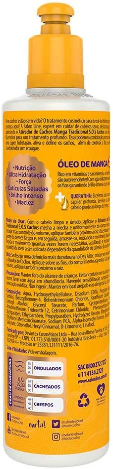 SALON LINE SOS CACHOS MANGA ATIVADOR DE CACHOS - 300 ml