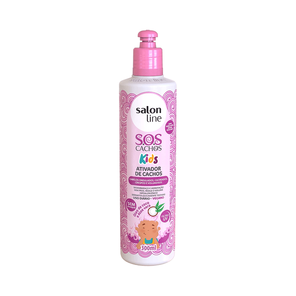 SALON LINE SOS KIDS ATIVADOR DE CACHOS 300 ML