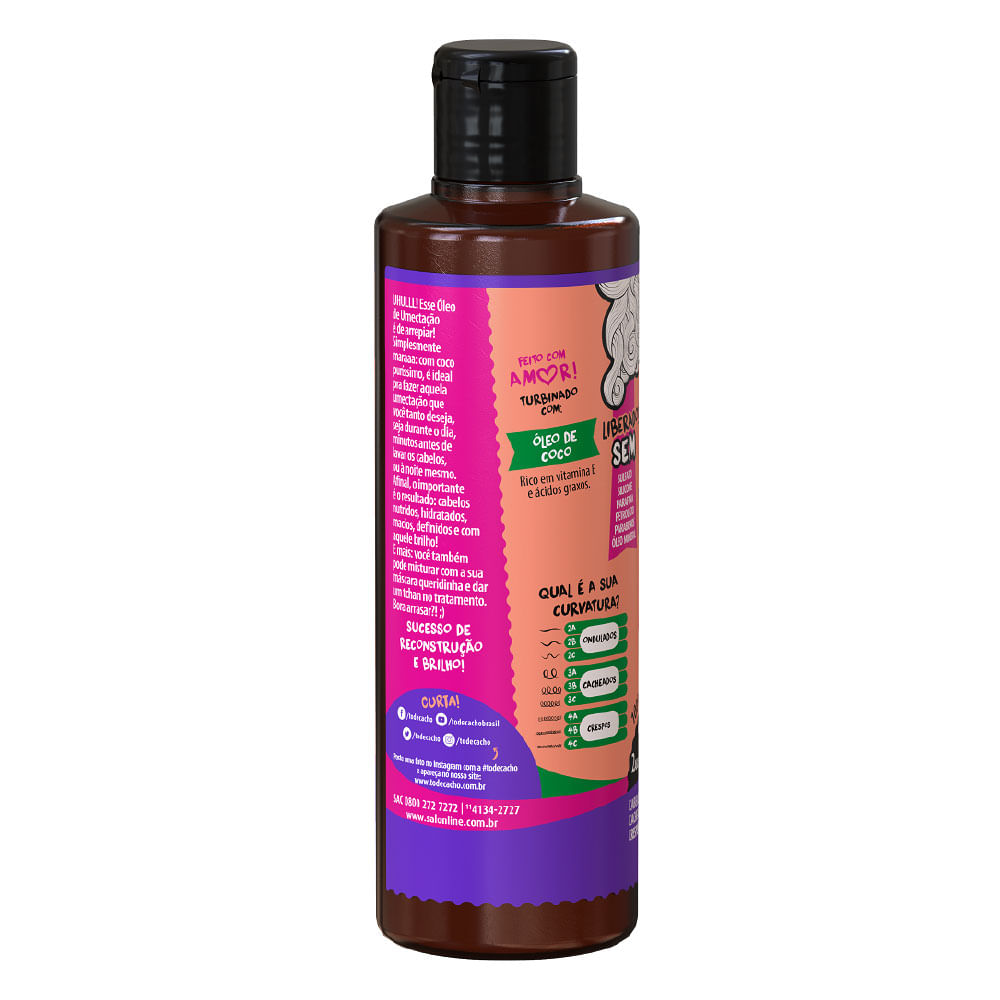 Salon Line #Todecacho Coco Puro óleo capilar - 100ml