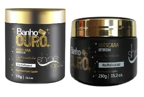SHINE HAIR MÁSCARA NUTRITIVA BANHO DE OURO