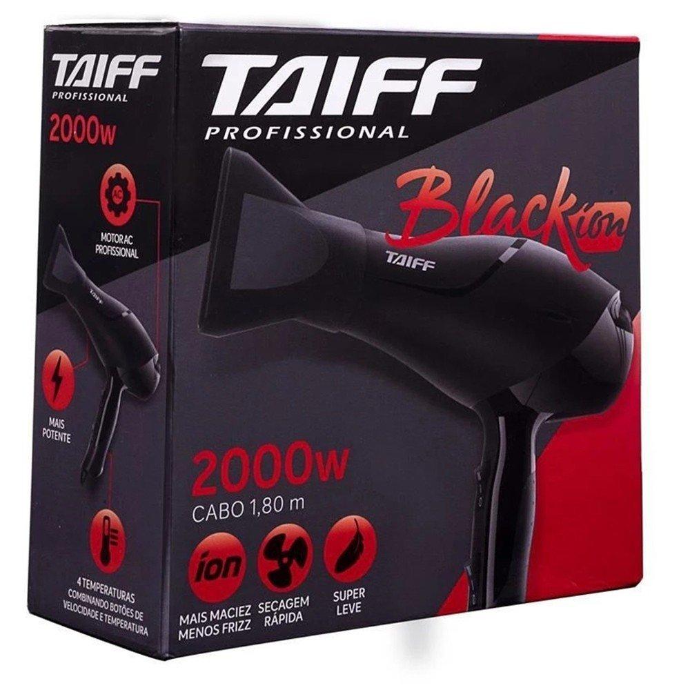 TAIFF SECADOR DE CABELO BLACK ÍON 2000W-110V