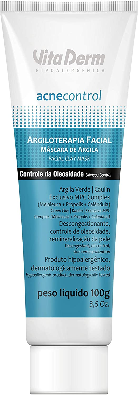 Vita Derm Máscara Argila Facial Acnecontrol 100g