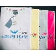 Camiseta Masculina Armani Jeans Emborrachada Premium (cada)