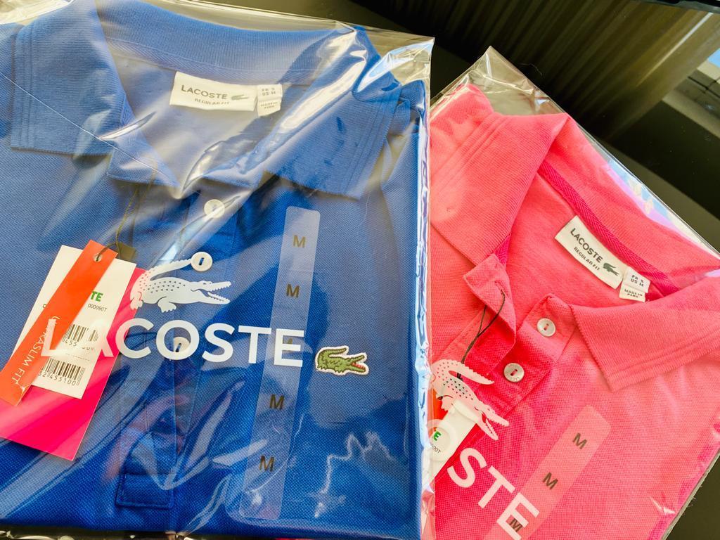 Camisa Gola Polo Lacoste Feminina Bordada Premium (cada)