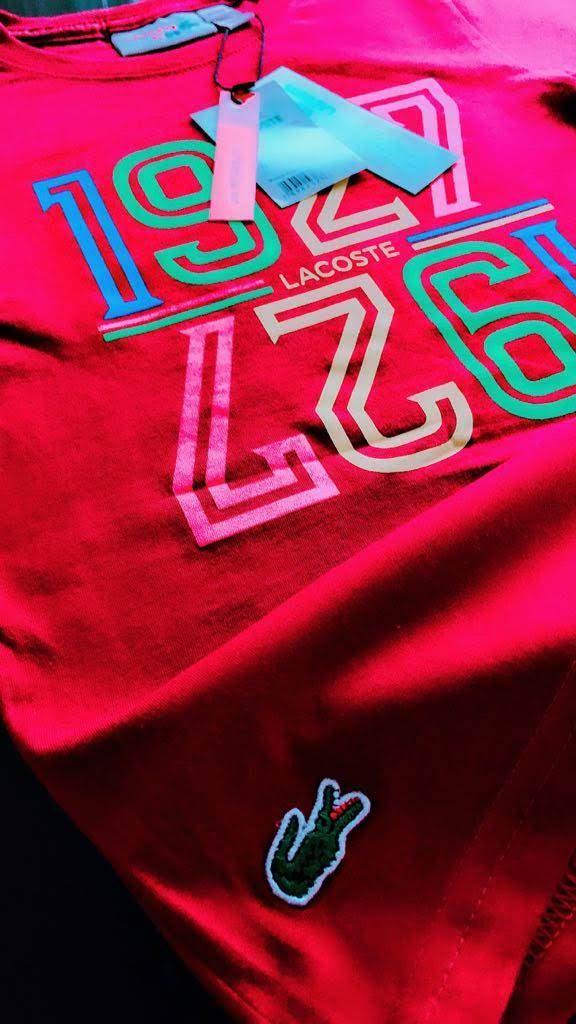 Camiseta Lacoste Infantil Premium (cada)