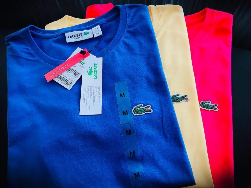 Camiseta Lacoste Feminina Bordada Premium (cada)