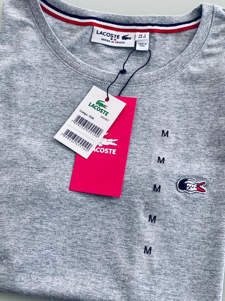 Camiseta Lacoste França Feminina Bordada Premium (cada)