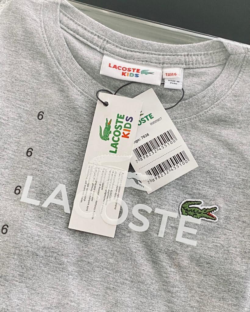 Camiseta Lacoste Infantil Lisa Premium (cada)