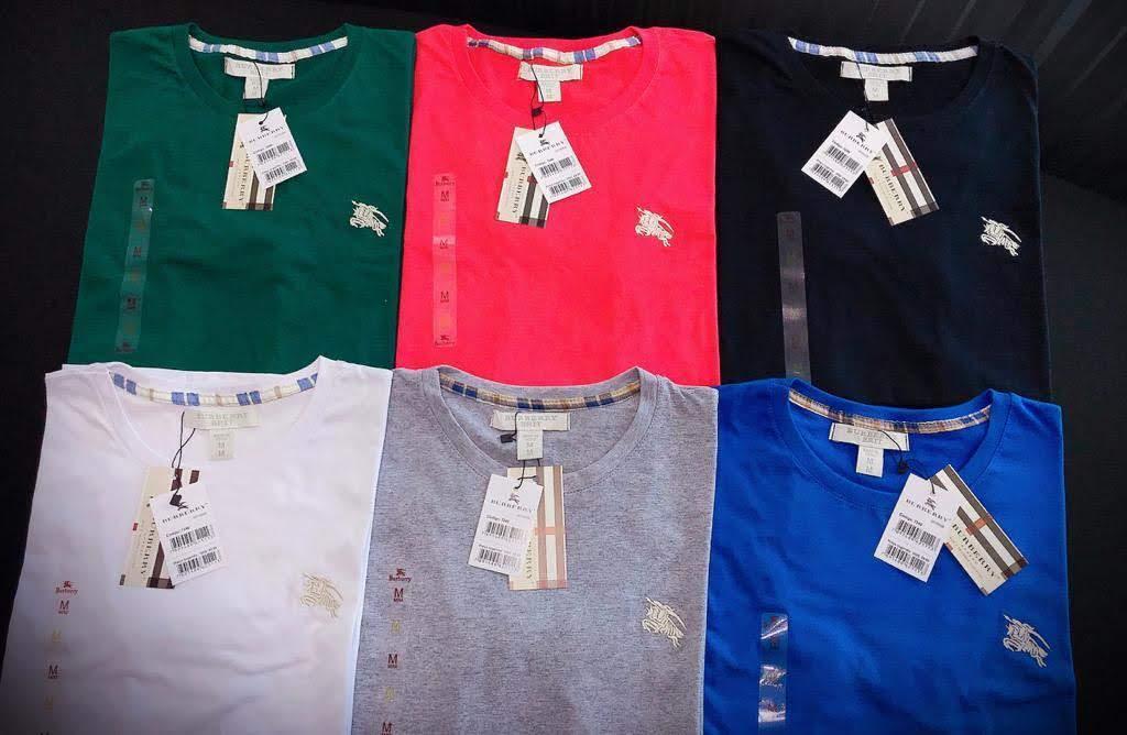 Camiseta Masculina Burberry Bordada Premium (cada)