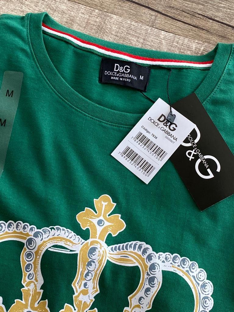 Camiseta Masculina Dolce & Gabbana Estampada Premium (cada)
