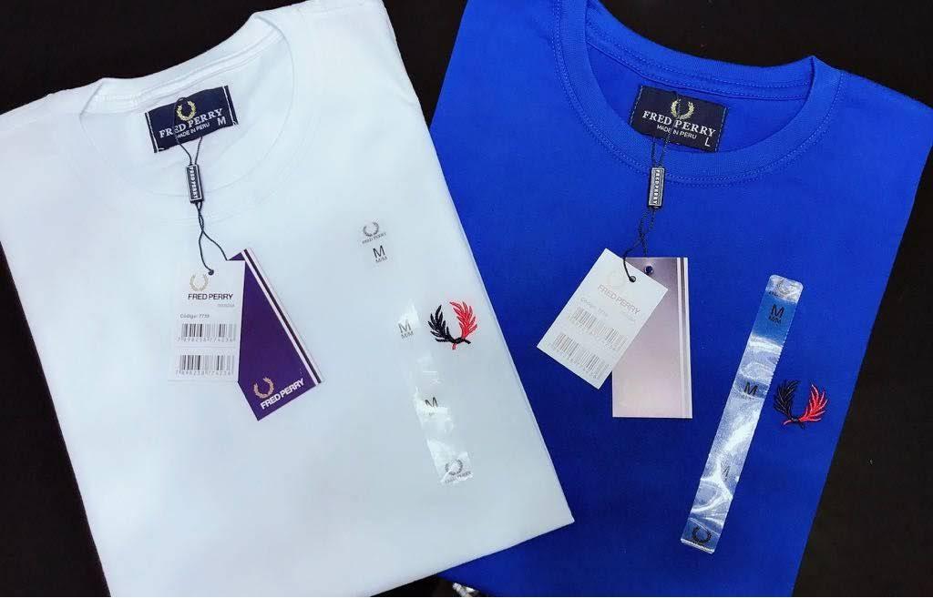 Camiseta Masculina Fred Perry Bordada Premium (cada)