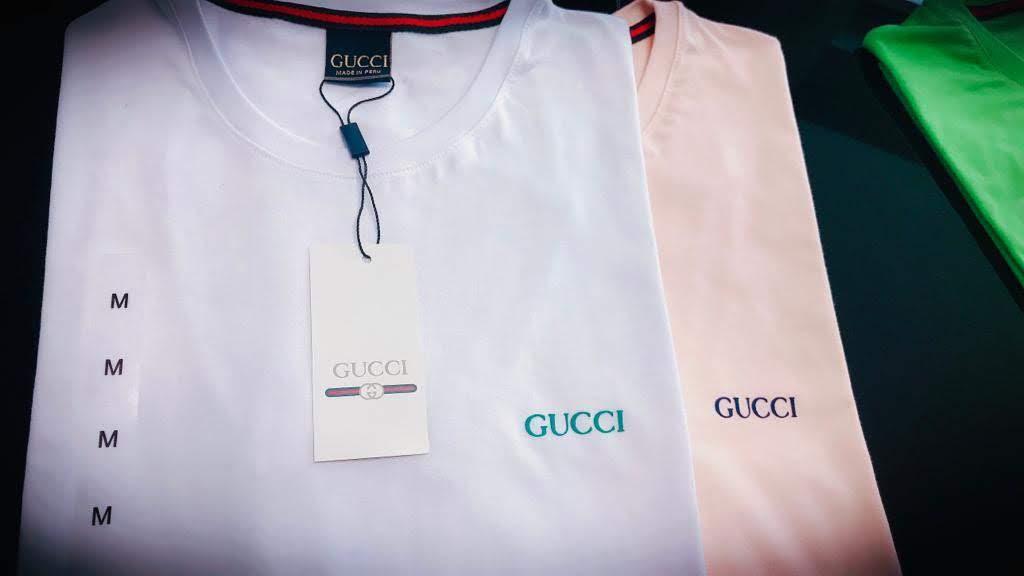 Camiseta Masculina Gucci Emborrachada Premium (cada)