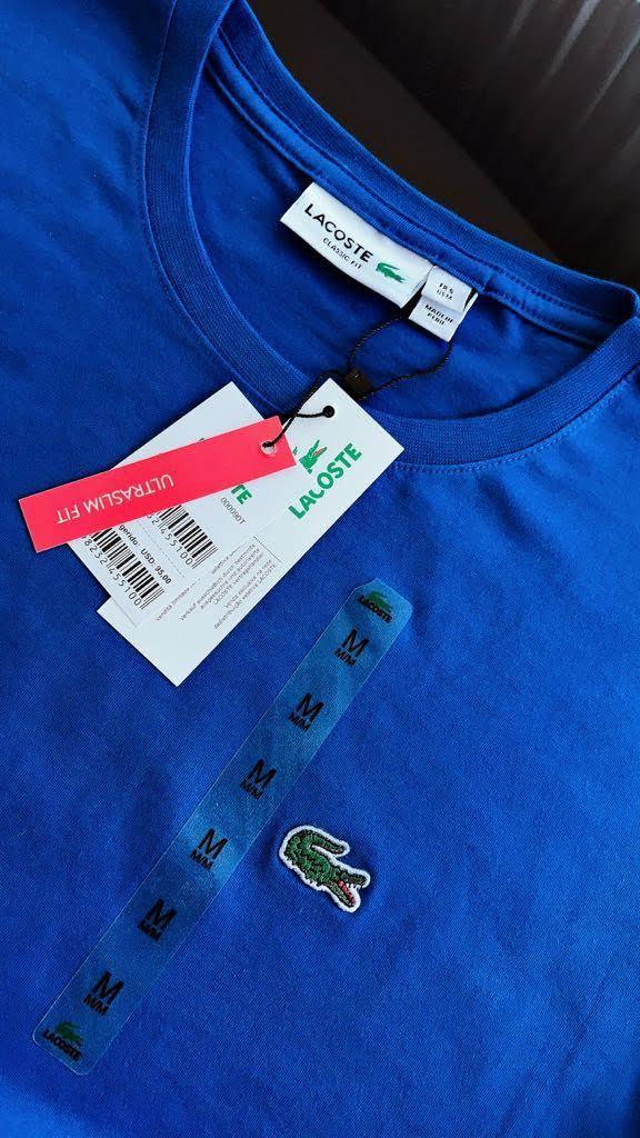 Camiseta Masculina Lacoste Clássica Bordada Premium (cada)