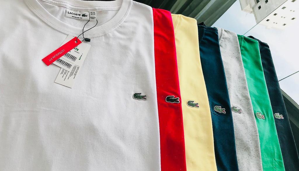 Camiseta Masculina Lacoste Clássica Tamanho ESPECIAL Premium (cada)
