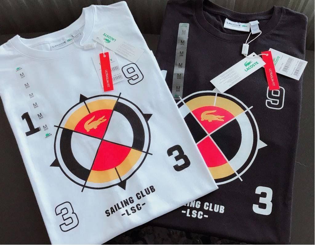 Camiseta Masculina Lacoste Estampada Premium (cada)