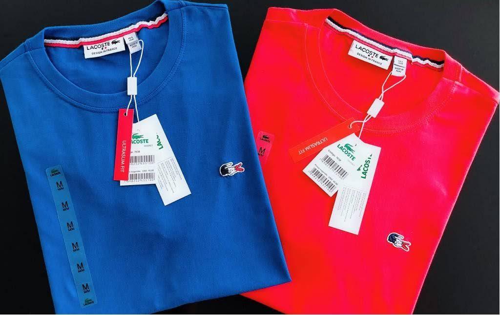 Camiseta Masculina Lacoste França Bordada Premium (cada)