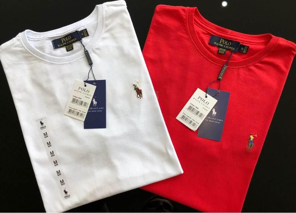 Camiseta Masculina Ralph Lauren Bordada Premium (cada)